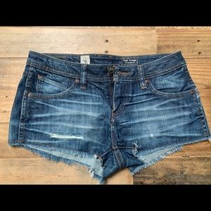 Volcom distressed cut-off short